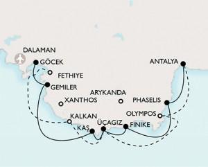 lycian-turkey-tour-map