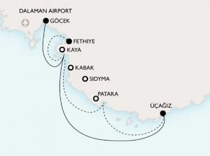short-walking-lycia-tour-map